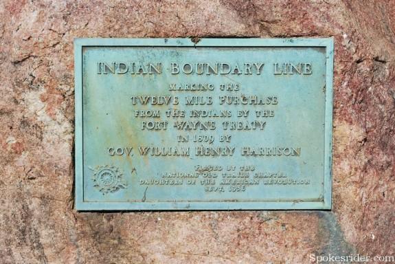 1809 Treaty Line marker in Cambridge City IN