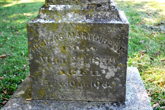 Thomas Martindale tombstone
