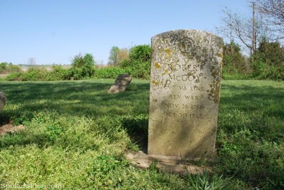 Robert McCoy gravestone, McCoy cemetery, Knox County, Indiana