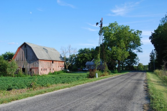 On Boundary Road, near La Fontaine, IN